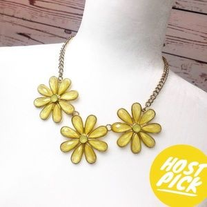 Yellow Daisy Adjustable Necklace